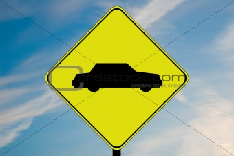 Car caution sign