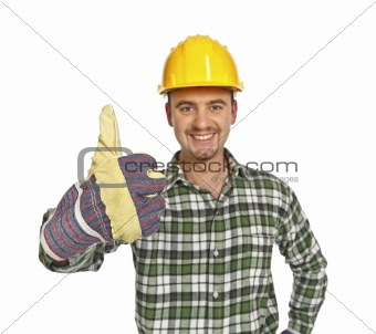 positive worker thumb up
