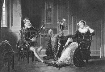 Mary Stuart and Chatelar romance scene