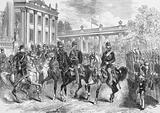 The King of Italy in Berlin Reviewing the Guards