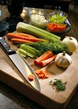 Cutting Board Vegetables - clipping path