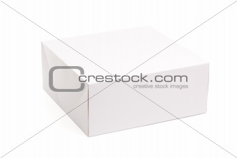 Blank White Box Isolated on a White Background Ready for Your Own Graphics.