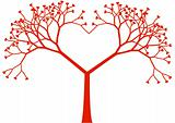 tree heart, vector