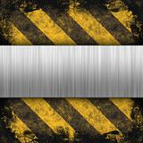 Hazard Stripes Brushed Metal