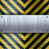 Hazard Stripes Brushed Aluminum