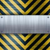 Hazard Stripes Brushed Aluminum