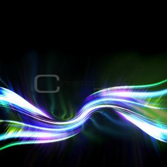 Green Plasma Fractal Layout