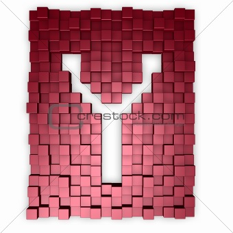 cubes makes the letter y