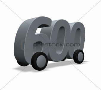 six hundred on wheels