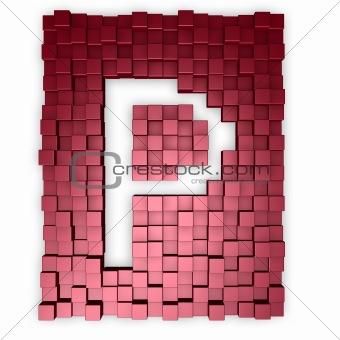 cubes makes the letter p