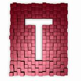 cubes makes the letter t