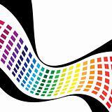 Wavy Rainbow Squares