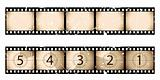Old film strip countdown