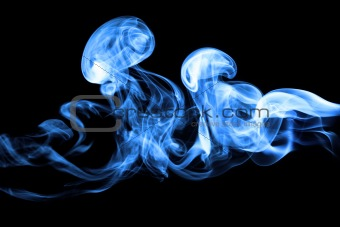 smoke isolated on deep black background