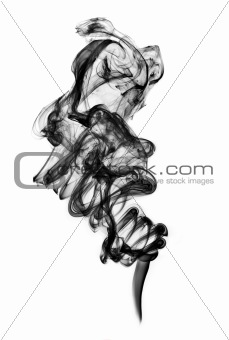 black smoke isolated