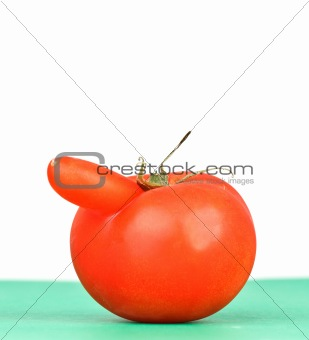funny shaped red tomato