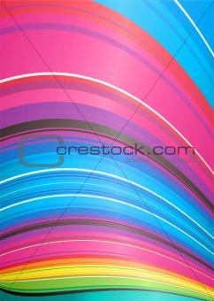 abstract rainbow ridge