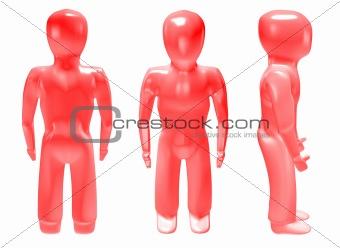 3d man red