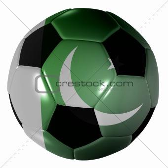football pakistan flag