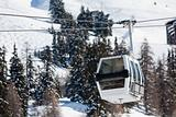 Gondola lift on ski resort