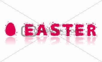 Floral easter egg on white for your design