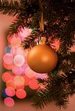 ball on christmas tree
