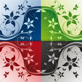 Four color flower