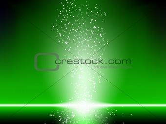 Green Stars Background.