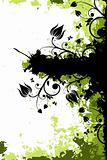 Grunge floral background with copyspace