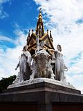Statues of the Prince Albert Memorial in London