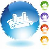 Shipping Conveyor Belt Icon