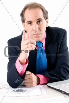 Businessman asking for explanations