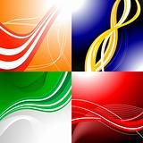 Four colourful abstract backgrounds