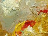 Oil paint fragment