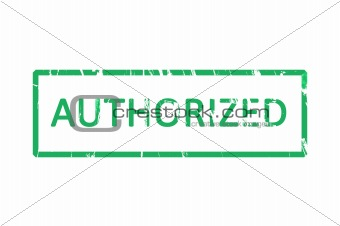 Authorized office rubber stamp