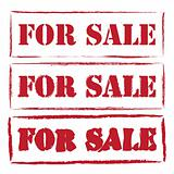 Red Sale stamps