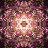 Abstract fractal surrealistic symmetric background