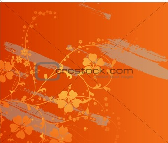 Abstract grunge floral