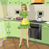 girl with baking