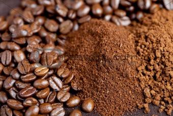 Three coffee types
