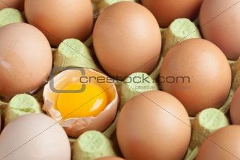 One broken egg