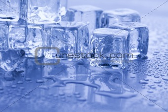 Crystals ice cubes