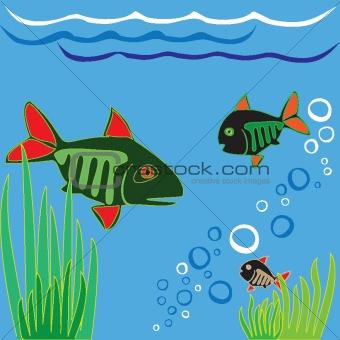 Aquarium fish. Fishing.