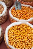 Orange soya beans