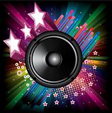 Background for Disco flyers with black Speaker