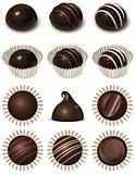 Chocolate icons set