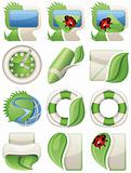 Nature green web icons
