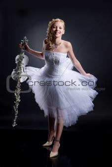 Young Bride With Violin