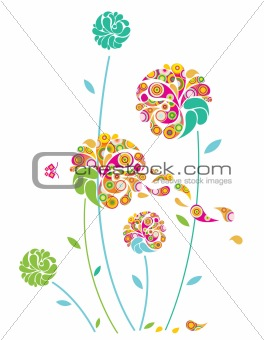 Abstract folwers