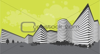 Abstract building landscape